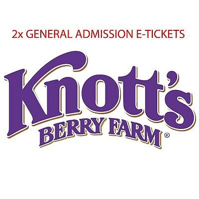 Knotts Berry Farm 1 day General Admission ticket (Total of 2 E-Tickets)
