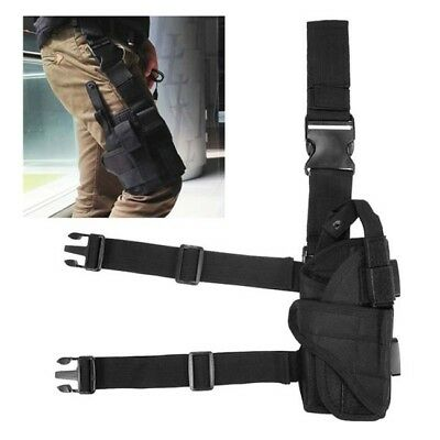 Tactical Wrap-around Thigh Leg Pistol Gun Holster Pouch Waterproof Adjustable