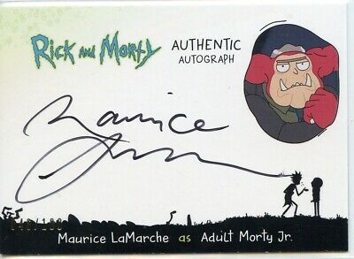 2018 Cryptozoic Rick and Morty Autograph Card MAURICE LAMARCHE as Adult Morty Jr
