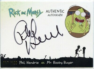 2018 Cryptozoic Rick and Morty Autograph Card PHIL HENDRIE as Mr. Booby Buyer