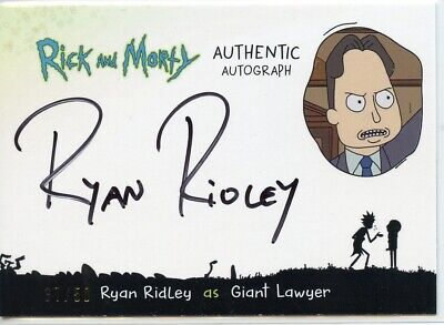2018 Cryptozoic Rick and Morty Autograph Card - RYAN RIDLEY as GIANT LAWYER