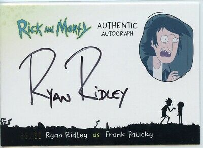 2018 Cryptozoic Rick and Morty Autograph Card - RYAN RIDLEY as FRANK 36/50