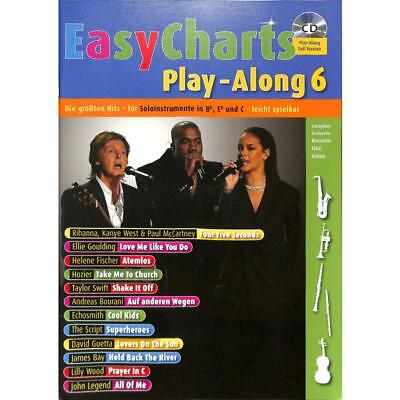 Bye: EASY CHARTS 6 Play-Along Songbook mit CD!(MF 3606) 978-3-7957-4943-9