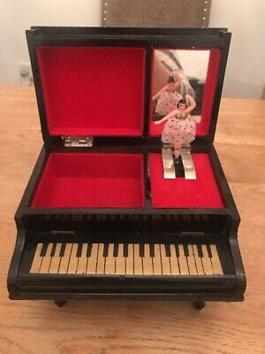 Antique Art Deco 1920s Japanese Piano Shaped Musical Jewellery Box Rare