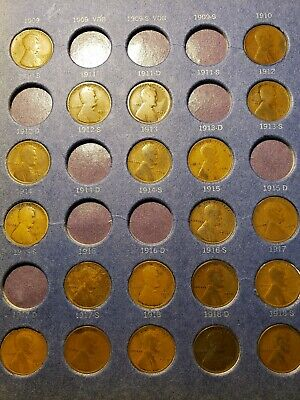 Lincoln Wheat Penny Cent Collection 1909 - 1940 P D S 73 Coins