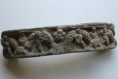 Ancient Indo Greek Stone Buddhist  Buddha  Figure Frieze Section 200/400 Ad God
