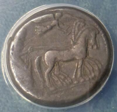 478-475 BC ANACS F12 Sicily, Syracuse, Hieron AR Tetradrachm Ancient Greek Coin