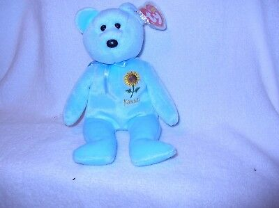 65f5554295a TY KANSAS SUNFLOWER STATE FLOWER BEANIE BABY - EXCLUSIVE MINT with ...