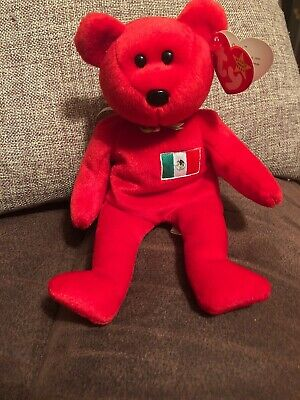 ee21a588620 TY BEANIE BABY Osito the Mexican Bear Very Ultra Super Rare NEW ...