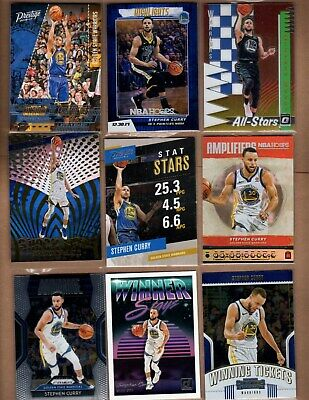 Stephen Curry - Golden State Warriors - Lot of 10 different INSERT cards
