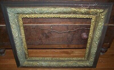 """19c ANTIQUE ORNATE VICTORIAN GESSO OVER WOOD PICTURE FRAME 16"""" X 20"""""""