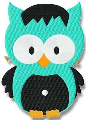 HALLOWEEN OWLS  18 MACHINE EMBROIDERY DESIGNS CD or USB