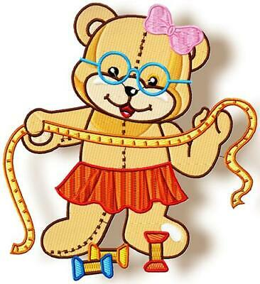 HAPPY SEWING BEAR  20  10 MACHINE EMBROIDERY DESIGNS CD or USB