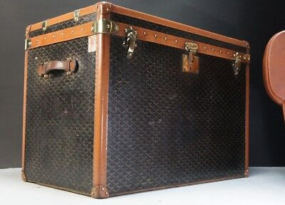 Antique Goyard Steamer Trunk with Original Liner