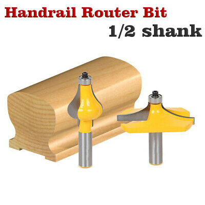 2pcs 8mm Shank Handrail Router Bit Rotary Power Tools Wood Milling Cutter