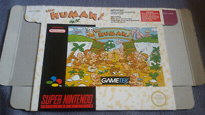 SNES The Humans Verpackung - TOP Zustand