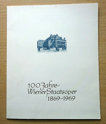 Austria 1969 100 Years Vienna State Opera First Day Cover FDC Folder.