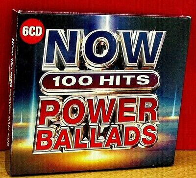 NOW  100 HITS POWER BALLADS   6 CD Set  (2019)  BRAND NEW & CELLOPHANE SEALED