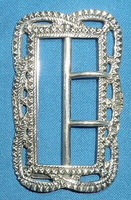 Beautiful Large Antique Sterling Silver Buckle 1897