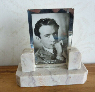 Original Vintage Small Marble Art Deco Photo Frame c1930's ( #1 of 3 )