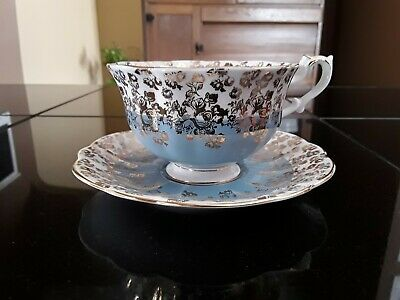 Royal Albert Cascade Series Teacup and Saucer Fine China.England.Glass.Bone.