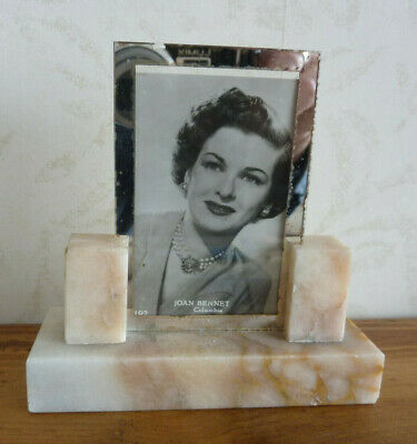 Original Vintage Small Marble Art Deco Photo Frame c1930's ( #3 of 3 )