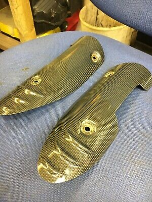 Triumph Speed Triple 1050 Carbon Fibre Exhaust Shields Left And Right