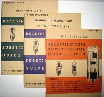 RECEIVING TUBE SUBSTITUTION Guide Books * Rider Publications