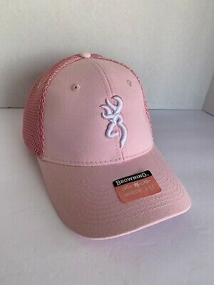 online retailer de3ae 54a2c Browning Women s Pink Hat Cap Deer Logo Strap back Tags New Adjustable  Hunting