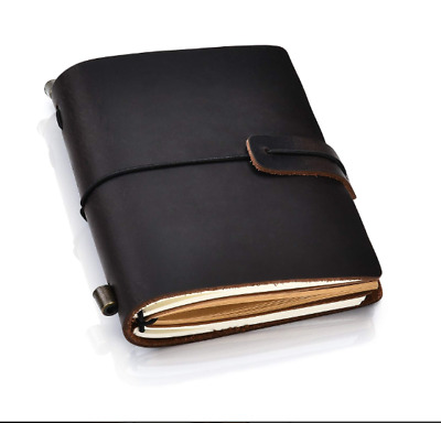 Leather Journal Writing Notebook - Antique Handmade Sketchbook Daily Notepad NEW