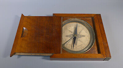 Fine Large French 18Th Century Mahogany Cased Compass Cavinet Paris