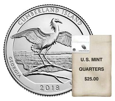 2018 P Cumberland Island National Seashore Park Quarters Money U.S.Mint Coins