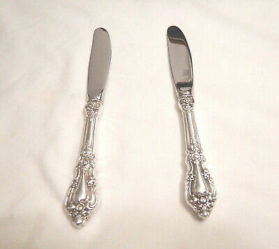 2 Eloquence Sterling Silver Butter Spreaders-So Ornate 1953 Lunt Finest