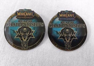 "2009 WoW TCG & Miniatures ""Top 32"" Tournament Pin Set! Blizzcon 2018! Warcraft!"
