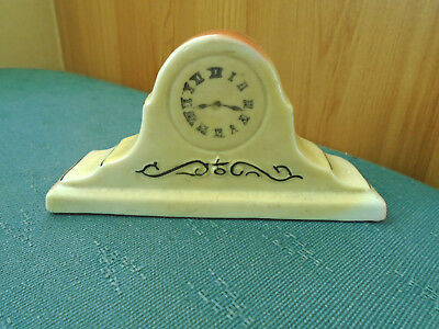 Lucky White Heather From Brighton - Model Of Mantle Clock - Crested China