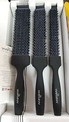 Wollow Spazzola Capelli Flat Set 3 Pz Piccola Media Grande - Originale