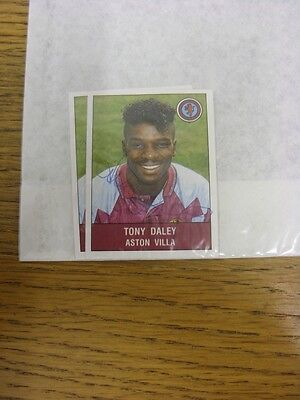 1991/1992 Autograph(s): Aston Villa, Tony Daley - Hand Signed Football 91 Sticke