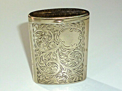 "Vintage English Art Deco Match Box Holder ""E.p.n.s"" - Streichholzbox - England"