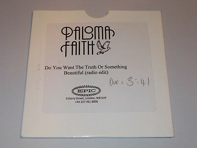 PALOMA FAITH - Do You Want The Truth Or Something Beautiful UK 2009 promo CD tes