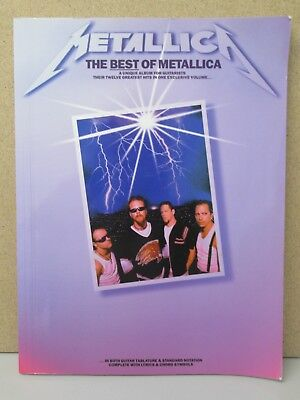 METALLICA- The Best of GUITAR TAB MUSIC BOOK 1997 learn to play/Justice for all