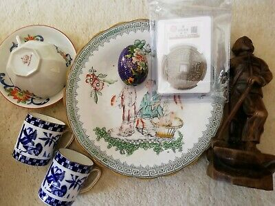 Joblot Chinese, Japanese Antique Vintage Collectables, Coin,Dresser style cups..