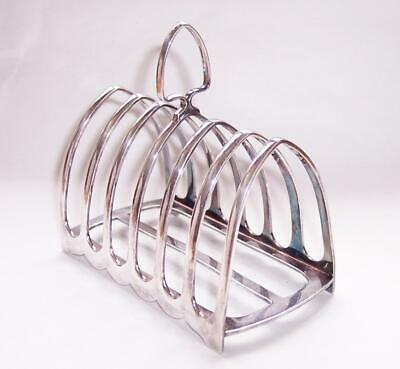 Vintage ART DECO Six Slice SILVER Plated TOAST RACK Gothic Arch ATKINS Bros