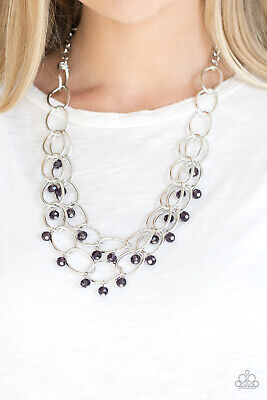 Paparazzi Jewelry Necklace ~Yacht Tour- Purple~ Vintage RARE! Spring!