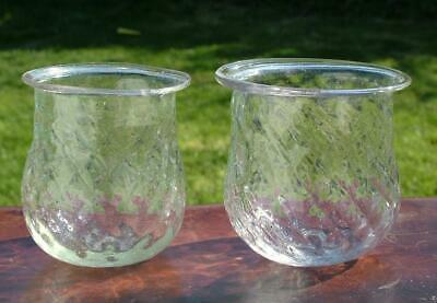 2 x GLASS EARLY VICTORIAN HAND BLOWN CHRISTMAS TREE FAIRY LIGHTS PONTIL - LOT 4