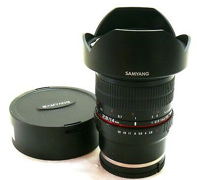 Samyang 14mm f/2.8 ED AS IF UMC lens, Sony FE E-mount MINT-