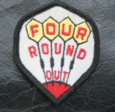 Four Round Out Embroidered Sew On Patch