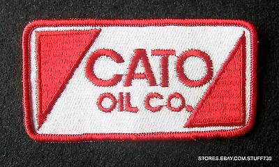 """CATO OIL GAS EMBROIDERED SEW ON PATCH SALISBURY MD ADVERTISING 4"""" x 2"""""""