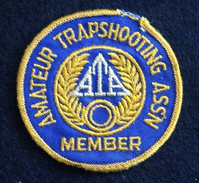 """Ata Amateur Trapshooting Embroidered Sew On Only Patch Association Member 3 1/4"""""""