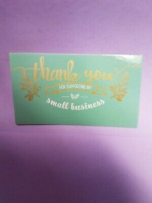 100 THANK YOU eBay, Amazon, Etsy+ Seller BUSINESS CARDS Pretty & PROFESSIONAL