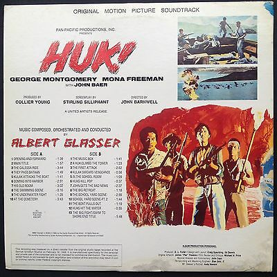 Screen Archives Albert Glasser HUK! LP Deluxe Film Soundtrack OST w/ Print +Book